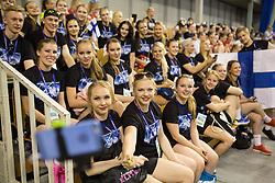 Helsinki Athletics Cheerleaders at ECU European Cheerleading Championships 2015 on June 27th 2015, in Hala Tivoli, Ljubljana. Photo by Matic Klansek Velej / Sportida