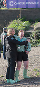 Mortlake/Chiswick, GREATER LONDON. United Kingdom. left Umpire, Sarah WINCKLESS and Cambridge University  Women's Boat Club President. Ashton BROWN after CUWBC win the Women's Boat Race  the Championship Course, <br />  Putney to Mortlake on the River Thames. <br /> <br /> Sunday  02/04/2017<br /> <br /> [Mandatory Credit; Peter SPURRIER/Intersport Images]