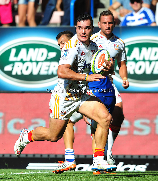 James Lowe of the Chiefs during the 2015 Super Rugby game between the Stormers and the Chiefs at Newlands Stadium, Cape Town on 14 March 2015 ©Ryan Wilkisky/BackpagePix