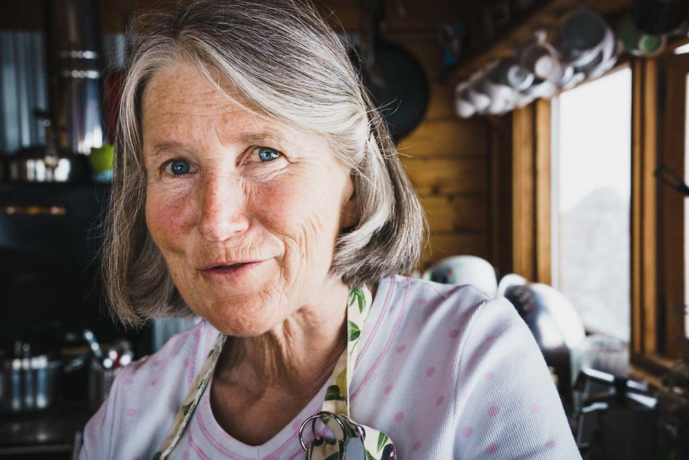 Monika Loeschberger has been cooking at the Burnie Glacier Chalet since 2002. You are fortunate to have her making meals from scratch for your group and even more so when she makes her schnitzel, Howson Range, BC.
