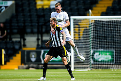 Alex Pearce of Derby County beats Jonathan Stead of Notts County to a header - Mandatory by-line: Robbie Stephenson/JMP - 14/07/2018 - FOOTBALL - Meadow Lane - Nottingham, England - Notts County v Derby County - Pre-season friendly