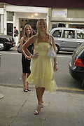 Melissa Baxter and Liz Fuller, Cartier Polo Players Party, The Collection, 264 Brompton Road, London, SW3, 25 July 2006. ONE TIME USE ONLY - DO NOT ARCHIVE  © Copyright Photograph by Dafydd Jones 66 Stockwell Park Rd. London SW9 0DA Tel 020 7733 0108 www.dafjones.com