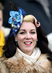 """A Brighton and Hove Albion supporter in the stands during the Premier League match at the AMEX Stadium, Brighton. PRESS ASSOCIATION Photo. Picture date: Saturday December 16, 2017. See PA story SOCCER Brighton. Photo credit should read: Gareth Fuller/PA Wire. RESTRICTIONS: EDITORIAL USE ONLY No use with unauthorised audio, video, data, fixture lists, club/league logos or """"live"""" services. Online in-match use limited to 75 images, no video emulation. No use in betting, games or single club/league/player publications."""
