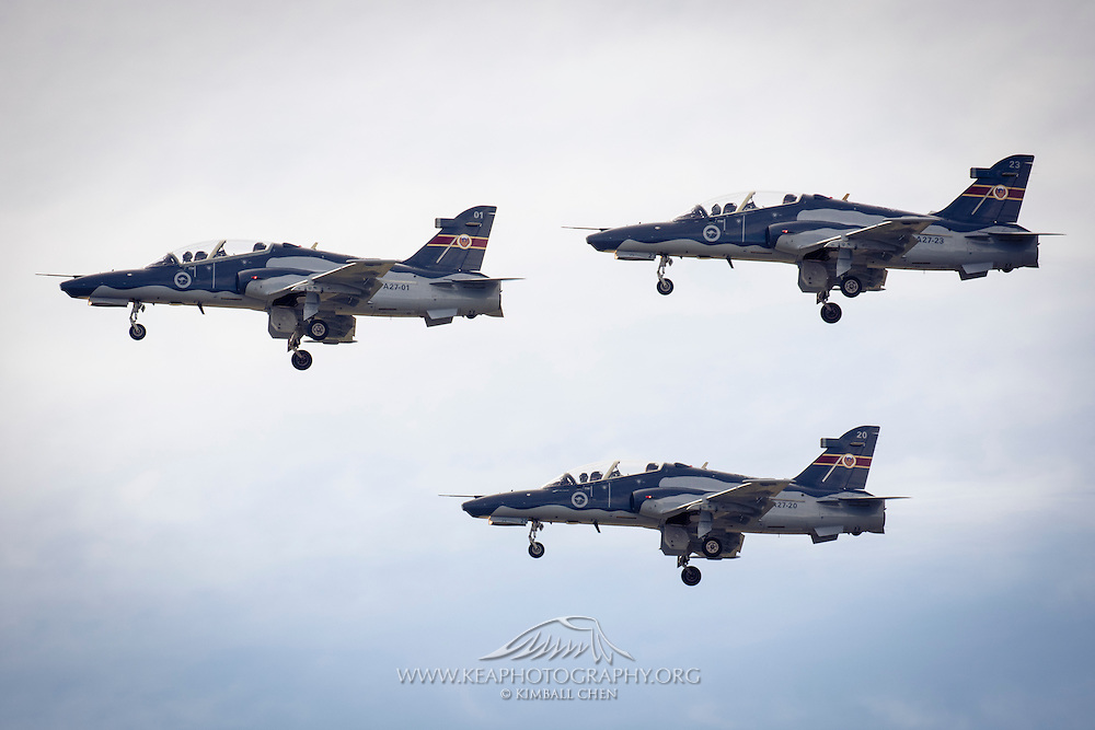 A trio of RAAF Hawk 127's at Warbirds over Wanaka 2016, New Zealand