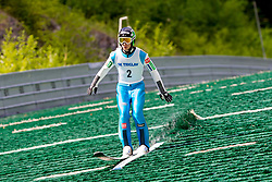 Aljaz Osterc of Slovenia during Ski Jumping Continental Cup 2018, on July 8, 2018 in Kranj, Slovenia. Photo by Urban Urbanc / Sportida