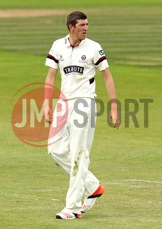 Somerset's Craig Overton - Photo mandatory by-line: Robbie Stephenson/JMP - Mobile: 07966 386802 - 23/06/2015 - SPORT - Cricket - Southampton - The Ageas Bowl - Hampshire v Somerset - County Championship Division One