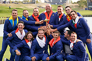 The European team celebrate winning<br />