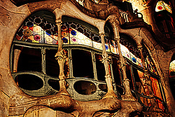The most prominent window on Casa Batllo, Barcelona.