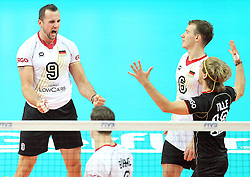 14.09.2014, Spodek, Katowice, POL, FIVB WM, Deutschland vs Kanada, 2. Runde, Gruppe F, im Bild Gyorgy Grozer, radosc // during the FIVB Volleyball Men's World Championships 2nd Round Pool F Match beween Germany and Canada at the Spodek in Katowice, Poland on 2014/09/14. EXPA Pictures © 2014, PhotoCredit: EXPA/ Newspix/ Dawid Markysz<br /> <br /> *****ATTENTION - for AUT, SLO, CRO, SRB, BIH, MAZ, TUR, SUI, SWE only*****