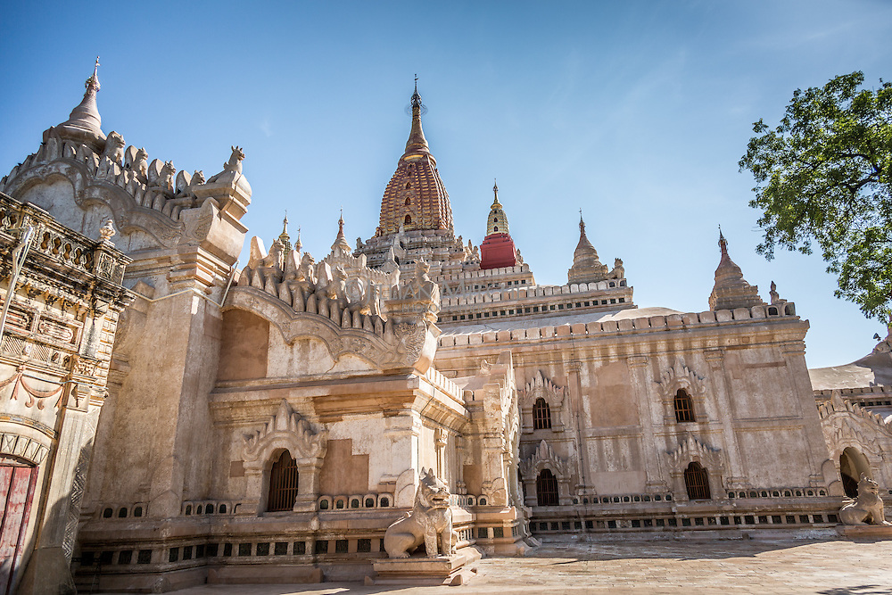 Ananda temple in Bagan, Burma is considered the finest and most beautiful.