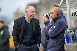 Raith Rovers manager John Hughes. Raith Rovers 1 v 1 Hibernian, Scottish Championship game played 18/2/2017 at Starks Park.
