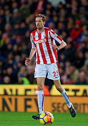 STOKE-ON-TRENT, ENGLAND - Wednesday, November 29, 2017: Stoke City's Peter Crouch during the FA Premier League match between Stoke City and Liverpool at the Bet365 Stadium. (Pic by David Rawcliffe/Propaganda)