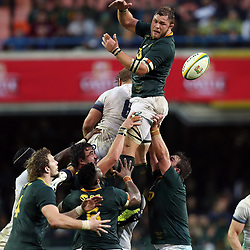 Duane Vermeulen of South Africa taking the line out ball during the 2018 Castle Lager Incoming Series 3rd Test match between South Africa and England at Newlands Rugby Stadium,Cape Town,South Africa. 23,06,2018 Photo by (Steve Haag JMP)