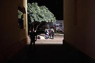 Lampedusa, Italia - Le strade dell'isola di Lampedusa di sera. Sull'isola, esclusi i mesi estivi, non c'&egrave; molta attivit&agrave; lungo le strade.<br /> Ph. Roberto Salomone