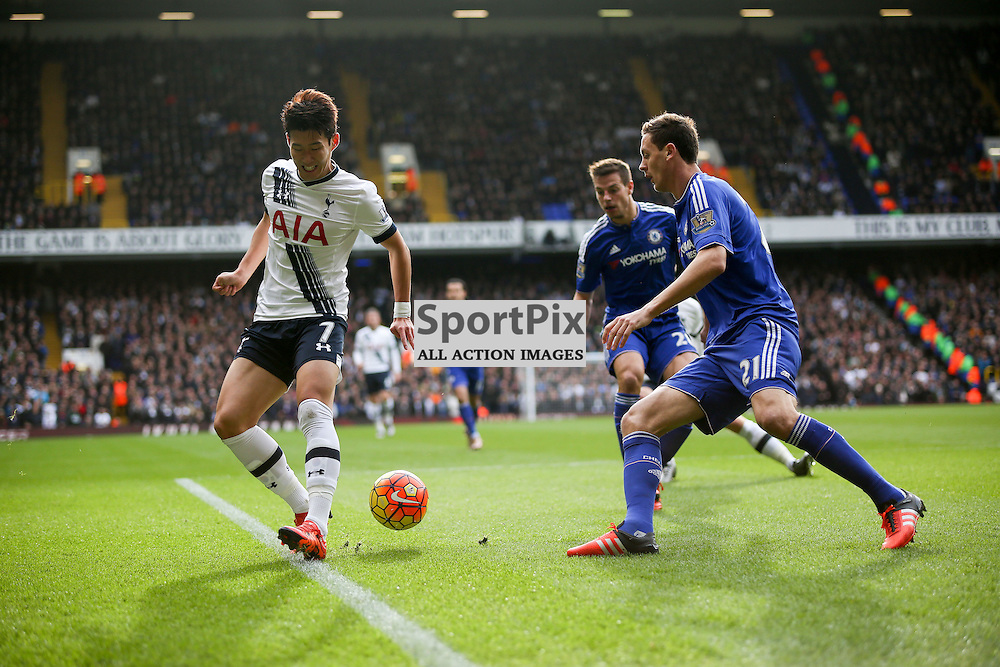 Heung Min Son attempts a backheel During Tottenham Hotspur vs Chelsea on Sunday the 29th November 2015.