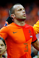 NETHERLANDS, Amsterdam John Heitinga  before the gameThe Netherlands versus Northern Irland during friendly soccer match between Netherlands vs Northern Irland in Rotterdam on June 2, 2012. AFP PHOTO/ ROBIN UTRECHT