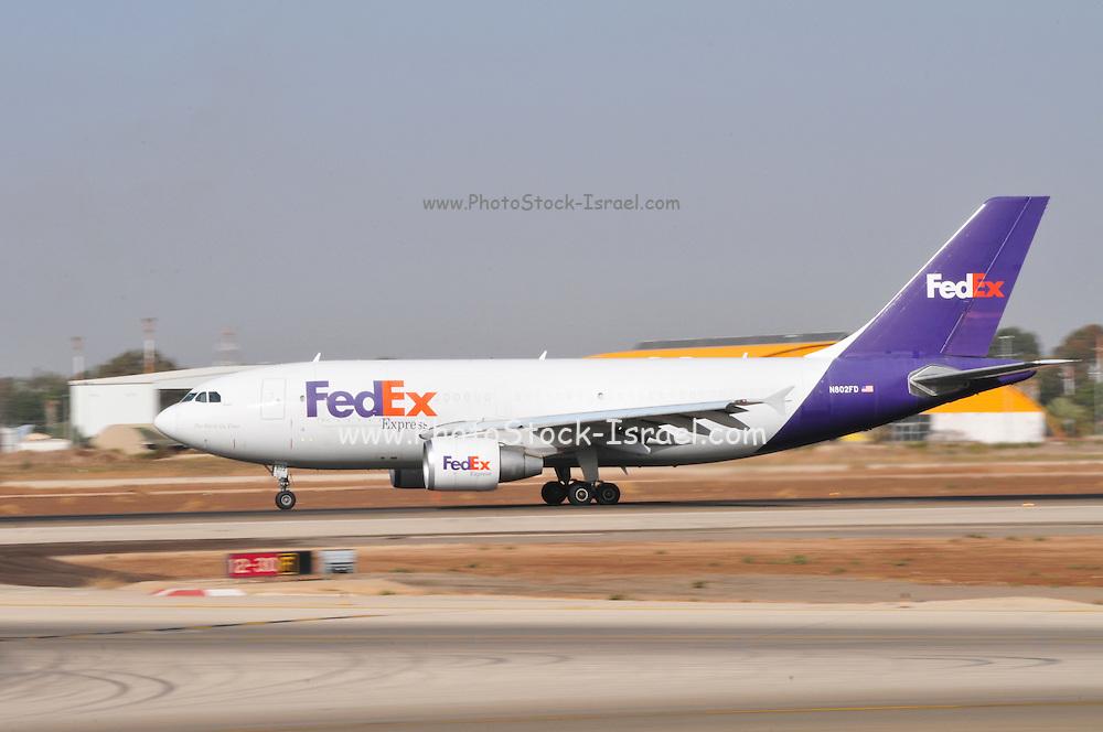 Israel, Ben-Gurion international Airport FedEx - Federal Express Airbus A310-324(F), N802FD,  (FDX)