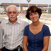 Dhr. Jo Beltman oude fractievoorzitter CDA Huizen en zijn opvolgster Janny Bakker-Klein