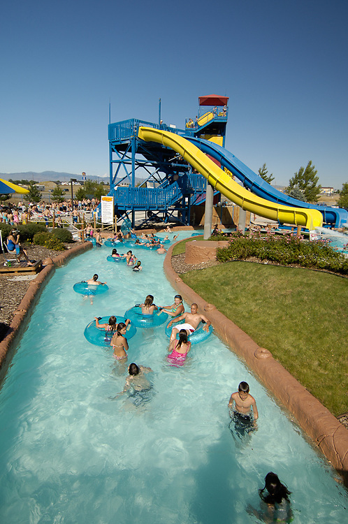 Idaho. Roaring springs water park. Summer children child kids fun people