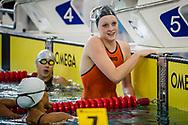 EYOF 2013 Zwemmen Krommerijn Utrecht. 100m vrijeslag (L-R) Marrit Steenbergen (NED)