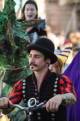Characters in the Penryn Festival procession.