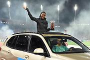 Beatrice Chepkoech (KEN) poses with the trophy after winning the women's steeplechase at the IAAF Diamond League final during the Weltkasse Zurich at Letzigrund Stadium, Thursday, Aug. 29, 2019, in Zurich, Switzerland. (Jiro Mochizuki/Image of Sport)