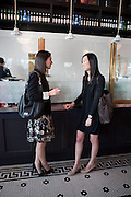 EVE SHARE BANGHART; REGINA ZHANG, Brunch to celebrate the launch of Art HK 11. Miss Yip Chinese Cafe. Meridian ave,  Miami Beach. 3 December 2010. -DO NOT ARCHIVE-© Copyright Photograph by Dafydd Jones. 248 Clapham Rd. London SW9 0PZ. Tel 0207 820 0771. www.dafjones.com.