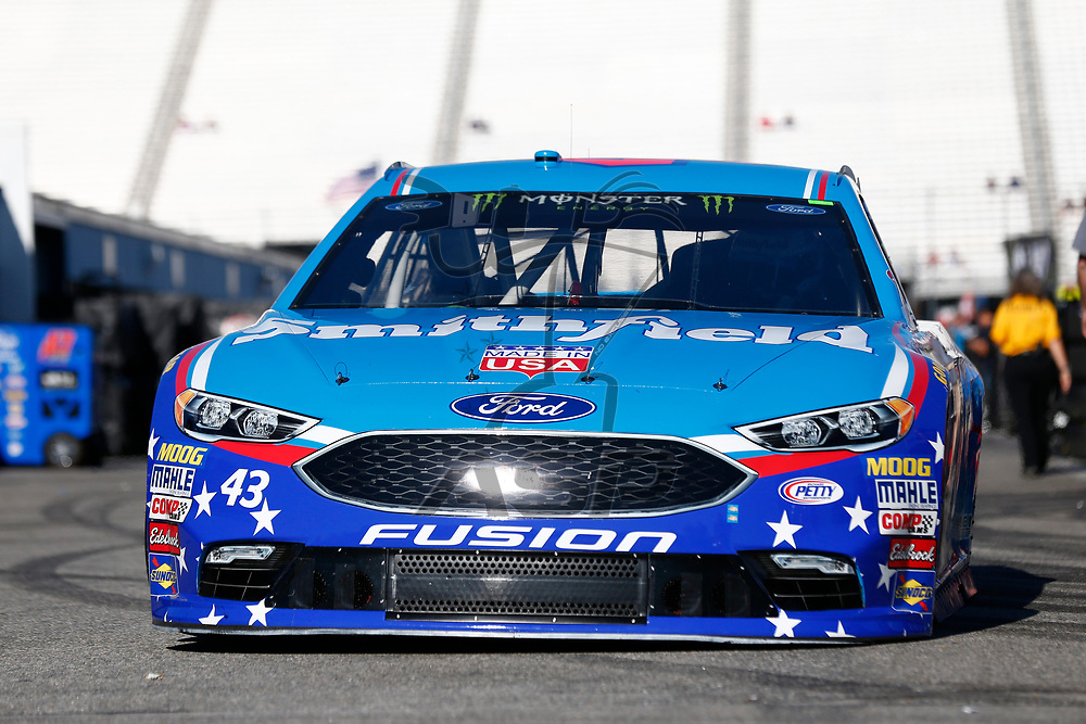 September 23, 2017 - Loudon, New Hampshire, USA: Aric Almirola (43) takes to the track to practice for the ISM Connect 300 at New Hampshire Motor Speedway in Loudon, New Hampshire.