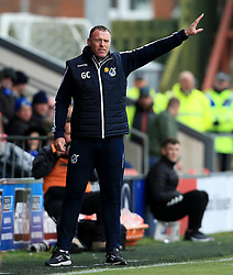 Bristol Rovers manager Graham Coughlan shouts instructions to his players - Mandatory by-line: Matt McNulty/JMP - 27/04/2019 - FOOTBALL - Highbury Stadium - Fleetwood, England - Fleetwood Town v Bristol Rovers - Sky Bet League One