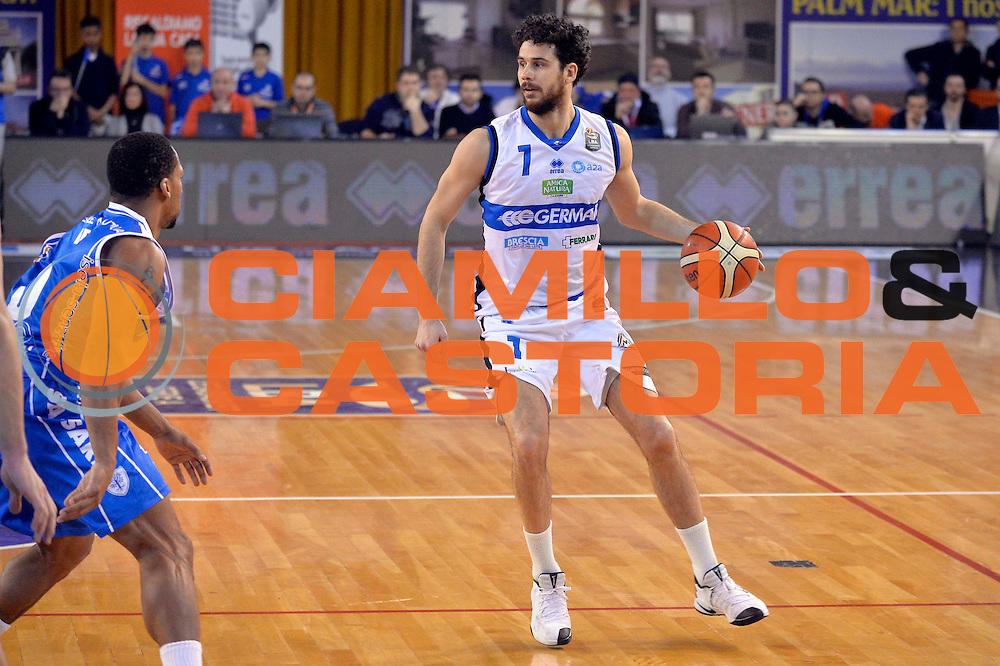 Luca Vitali<br /> Germani Basket Brescia Leonessa - Banco di Sardegna Dinamo Sassari <br /> Lega Basket Serie A 2016/2017<br /> Montichiari, 05/02/2017<br /> Foto Ciamillo-Castoria