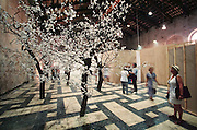 "VENICE, ITALY..June 1997..47th Biennale of Venice.Deposition-Contemporary Swedish Art..""Cherry Tree"" 1994 by Steven Bachelder..(Photo by Heimo Aga)"