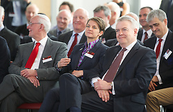 NEWPORT, WALES - Saturday, April 20, 2013: First Minister Carwyn Jones and Laura McAllister (Chair of Sport Wales) at the opening of the FAW National Development Centre in Newport. (Pic by David Rawcliffe/Propaganda)
