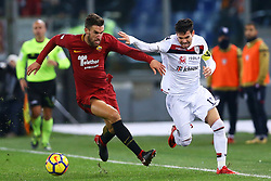 December 16, 2017 - Rome, Italy - Kevin Strootman of Roma and Diego Farias of Cagliari during the Italian Serie A football match Roma vs Cagliari, on December 16, 2017 at the Olimpico stadium in Rome. (Credit Image: © Matteo Ciambelli/NurPhoto via ZUMA Press)