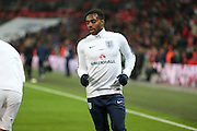 England Defender Danny Rose in warm up during the FIFA World Cup Qualifier group stage match between England and Scotland at Wembley Stadium, London, England on 11 November 2016. Photo by Phil Duncan.