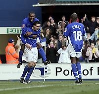 Tommy Miller celebrates after scoring with Wilnis.<br /> Ipswich Town v Nottingham Forest. Coca Cola Championship. 12/03/05. Picture by Barry Bland