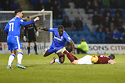Gillingham forward Frank Nouble (45)   during the EFL Sky Bet League 1 match between Gillingham and Northampton Town at the MEMS Priestfield Stadium, Gillingham, England on 12 November 2016. Photo by Martin Cole.