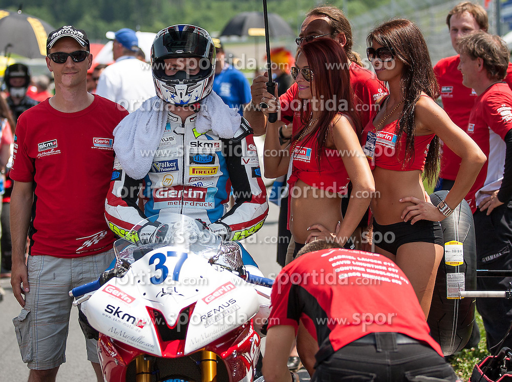 01.07.2012, Red Bull Ring, Spielberg, AUT, IDM Red Bull Ring, Renntag, im Bild David Linortner, (Supersport, AUT, #37) // during the IDM race day on the Red Bull Circuit in Spielberg, 2012/07/01, EXPA Pictures © 2012, PhotoCredit: EXPA/ M. Kuhnke