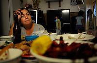 NEW ORLEANS, LA- June 22:  Ut Nguyen, talks about other job opportunities besides fishing.... The Nguyens', a Vietnamese fishing family, at home in east New Orleans, New Orleans, Louisiana, Tuesday June 22, 2010.  Dung Nguyen, the father, has been unable to work on the shrimp boat since the spill, and has had to apply for assistance and train for oil spill clean up work. (Melina Mara/The Washington Post)