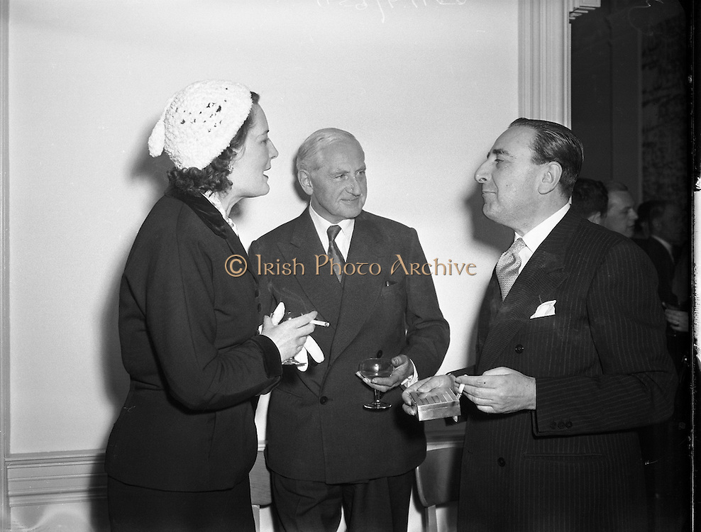 Italian Cultural Institute Inaugural Meeting at 11 Fitzwilliam Square, Dublin.20/04/1954