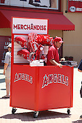 ANAHEIM, CA - JUNE 16:  A vendor sells memorabilia before the Los Angeles Angels of Anaheim game against the New York Yankees on Sunday, June 16, 2013 at Angel Stadium in Anaheim, California. The Yankees won the game 6-5. (Photo by Paul Spinelli/MLB Photos via Getty Images)
