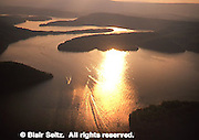 Aerial, Sunset, Raystown Lake, Southwest, PA Aerial Photograph Pennsylvania