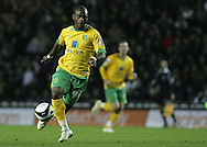 Derby - Tuesday October 28th, 2008: Leroy Lita of Norwich City gets a sight on goal against Derby County during the Coca Cola Championship match at Pride Park, Derby. (Pic by Michael Sedgwick/Focus Images)