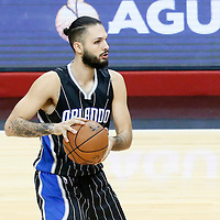 11 January 2017: Orlando Magic guard Evan Fournier (10) looks to pass the ball during the LA Clippers 105-96 victory over the Orlando Magic, at the Staples Center, Los Angeles, California, USA.