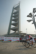 Cyclists pre-ride the TT course - 2011 Tour of Beijing, Stage 1 ITT
