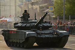 May 4, 2019 - Moscow, Russia - Passage of military equipment through the streets of Moscow. Victory Parade rehearsal (Credit Image: © Russian Look via ZUMA Wire)