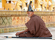 Shwedagon Paya, Yangon, Burma:  One of the world's most spectacular religious monuments.  The gold dome is 322 feet tall and covered with 60 tons of pure gold.