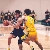 1st year forward, Matt Barnard (7) of the Regina Cougars during the Men's Basketball Home Game on Fri Nov 02 at Centre for Kinesiology,Health and Sport. Credit: Arthur Ward/Arthur Images