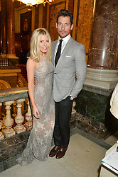 DAVID GANDY and MOLLIE KING at the LDNY Fashion Show and WIE Award Gala sponsored by Maserati held at The Goldsmith's Hall, Foster Lane, City of London on 27th April 2015.