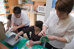 Women in a craft class at adult education college,