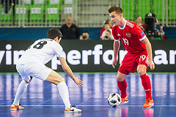 Ivan Chiskala of Russia during futsal match between Russia and Kazakhstan in Third place match of UEFA Futsal EURO 2018, on February 10, 2018 in Arena Stozice, Ljubljana, Slovenia. Photo by Ziga Zupan / Sportida